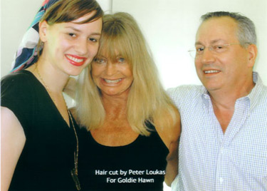 Allie Loukas, Goldie Hawn and Peter Loukas